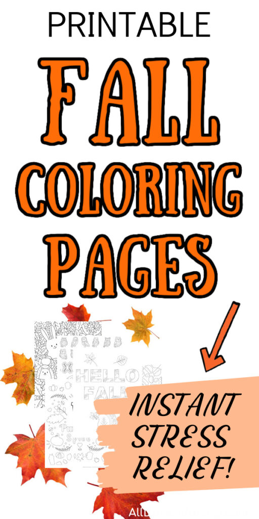 Printable Fall Coloring Pages For Adults {Free Sample} - All Done Adulting